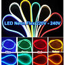 5M LED Strip Neon Flexible Rope Light Waterproof 220V Flexible Outdoor Lighting