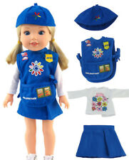 """Daisy Girl Scout Uniform Costume for 14.5"""" American Girl WELLIE WISHERS Dolls"""