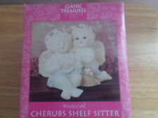 Classic Treasures Musical Cherubs Shelf Sitter