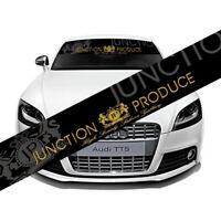 JUNCTION PRODUCE Front Window Windshield Carbon Fiber Vinyl Banner Decal Sticker