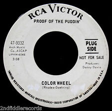 PROOF OF THE PUDDIN'-Flying High & Color Wheel-Psych Rock DJ 45-RCA VICTOR #9332