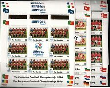 JK GAMBIA 1996 - MNH - SOCCER - SPORT - CHAMPIONSHIP - 16 DIFFERENT SHEETS