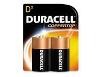 DURACELL CopperTop MN1300 15000mAh 1.5V Size D Alkaline Battery, 2-pack