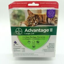 Bayer Advantage II Large Cat Flea Treatment 4 Month Supply New Free Shipping