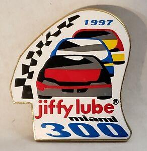 NASCAR JIFFY LUBE MIAMI 300 1997 PIN GREATEST RACE UNDER THE SUN JEFF BURTON