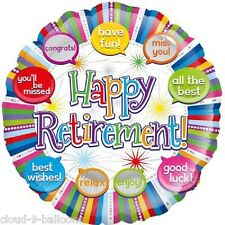 Happy Retirement With Speech Bubbles 45cm (18 inch)  Foil Balloon Event Decor