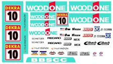 #10 Woodone Audi 2016 Dtm 1/32nd Scale Slot Car Decals