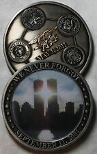 Never Forgot September 11 Twin Towers SEALs 1May11 Military Challenge Coin / 911