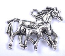 10pcs Tibet silver horse charms pendant JK0876