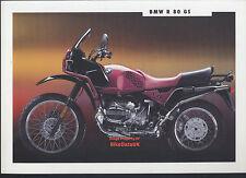 Genuine BMW R80GS (1992) Dealership Sales Brochure R80 Boxer R 80 GS Dakar AR83