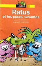Ratus et les Puces Savantes * RATUS JAUNE 40  * CP * GUION  * Apprendre à lire
