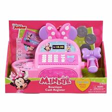 Minnie Mouse Bowtique Cash Register  Disney Junior  9 Pieces Minnie Talks