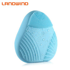LANDWIND Waterproof Silicone Electric Facial Cleansing Brush Face Washing Blue