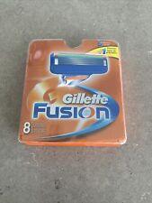 Gillette FUSION Men's Razor Blade Refills 8 Cartridges   New W/ Fast Ship!
