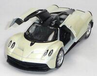 NEU: Pagani Huayra Supersportwagen Sammlermodell ca. 1:37 elfenbein WELLY 轰动