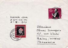 L66 ALLEMAGNE facade d'enveloppe premier jour d'emission 6 III 1959 MUNCHEN BPA1