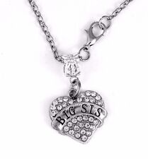 Big sister jewelry Big sis Necklace sista charm Sisters gift Best sister present