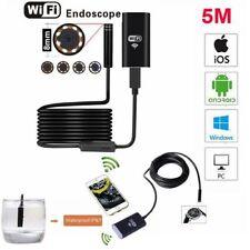 WIFI 8mm Endoscopio Boroscopio Snake Inspección Cámara Alcance Para Android Iphone 7