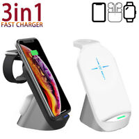 15W Qi Wireless Charger for Airpods Watch iPhone X 8 11 Pro Fast Charge Station