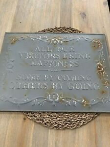 Beautiful Shabby Chic Country Rustic Metal Large Sign