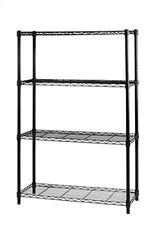 Libreria in acciaio Nero 4 piani 36x90x137cm Archimede Light Ak1436-4