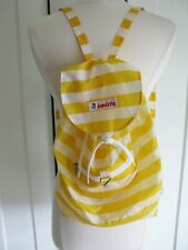 Invicta Minisac Yellow/ White Stripe Nylon Backpack Bag - Packable Pouch