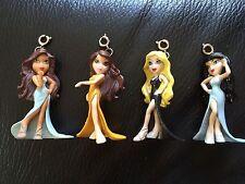 "Bratz Mini Doll Charms Set Of 4. Size Approx 2"""