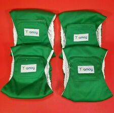 Teamoy 4pc Set Reusable Male Dog Wraps Diaper Washable Puppy Belly Band XS Green