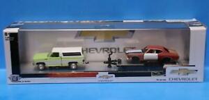 M2 Machines AUTO-HAULERS R45 1972 Chevy Cheyenne 10  & 1970 Chevy MALIBU SS-454