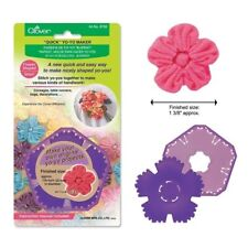 Clover Yo Yo Maker Shape Easy Yoyo create Fabric Puffy Circles or FLOWER maker