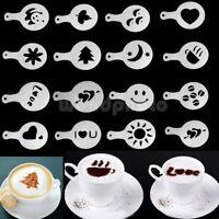 16X Motive Cappuccino Cappucino Schablone Kaffee Deko Kakao Latte Kakaostreuer