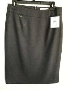 Calvin Klein Size 6 Black Career Pencil Skirt NWT
