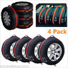 "4pc Car Seasonal Spare Tyre Protector Cover 13""-19"" Tire Storage Bags Carry Tote"