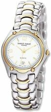 Mens Charles Hubert Two-tone Brass Silver White Dial Watch