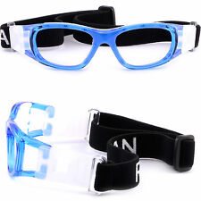 Kids Sports Protection Goggles Safe Prescription Glasses Wrap Around Straps Blue