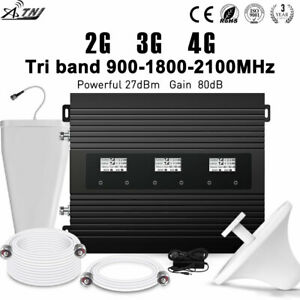 Tri-Band 900/1800/2100MHz 2G 3G 4G Mobile Signal Booster Repeater for EuropeAsia