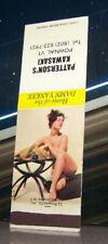 Vintage Matchbook Cover C7 Pownal Vermont Patterson Kawasaki Pin Up Girl Fruit