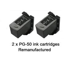 2 x PG-50 PG50,PG-40XL Black ink cartridges for Canon iP2200,MP150,160,MX300