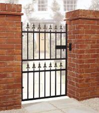 "WROUGHT IRON METAL GARDEN SIDE GATE Castle 2ft6""-3ft4"""