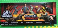 Jurassic World Action Figure 6-Pack Owen Plus 5 Dinosaurs Indoraptor Blue NEW