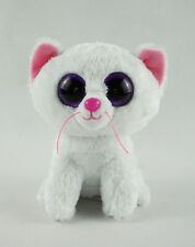 "6"" TY Beanie Boos Glitter Eyes Cashmere The White Cat No Tag Plush Stuffed Toys"