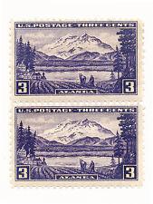 1937 US Stamp SC#800 Alaska Old , 3c Double, MNH