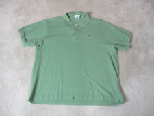 Lacoste Polo Shirt Adult Extra Large Size 8 Alligator Rugby Green Casual Mens H*