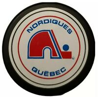 QUEBEC NORDIQUES NHL VINTAGE OFFICIAL GAME PUCK TRENCH MFG. ZIEGLER GENERAL TIRE