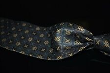 LNWOT Ermenegildo Zegna Selvedge Silk Satin Blued Grey X Cross Cube Mosaic Tie