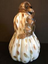 Nicole Miller Home DESIGNER WHITE GOURD with GLITTERED COPPER SPLASHES & STEM.