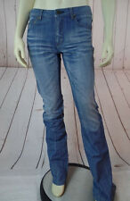 Theory Jeans 2 Faded Distressed Blue Denim Cotton Straight Leg Low Rise HOT!