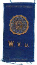 New listing 1910s S25 tobacco / cigarette / college silk West Virginia University