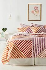 💕 ONLY ONE 💕 Anthropologie ANSENE PEACH King Duvet Cover NWT actual pic 👀