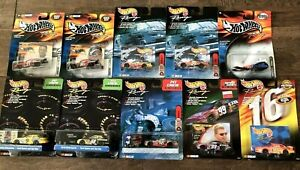 Hot Wheels Nascar RaceDay, 3 Pit Box Lot of 10 New in Box 1999 2000 no dups